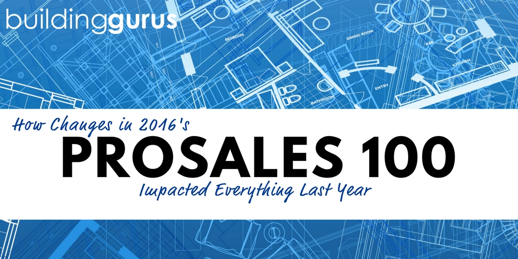 How Changes In The ProSales 100 Are Impacting Everything This Year